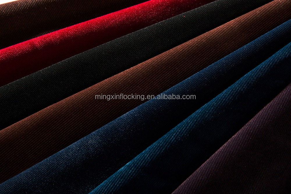 strip plain flocking fabric mx802