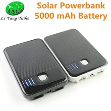 5000 mah batterysilicone solar charger travel mobile phone charger OEM solar power bank