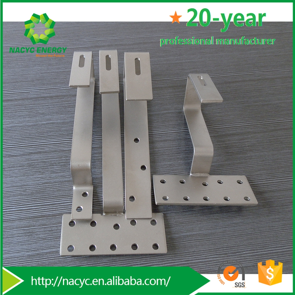 Pitched roof pv solar panel mounting aluminum hook system