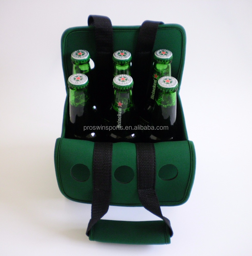 Neoprene 6 Pack Beer Bottle Carrier Cooler Holder