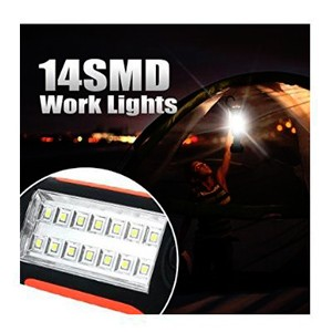 2017 hot product 14 SMD 2*1W LED Pocket hiking Light camping light