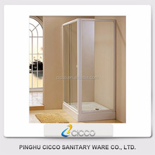 Aluminium frame Rectangle Sliding Shower Enclosure with ABS Tray C6024