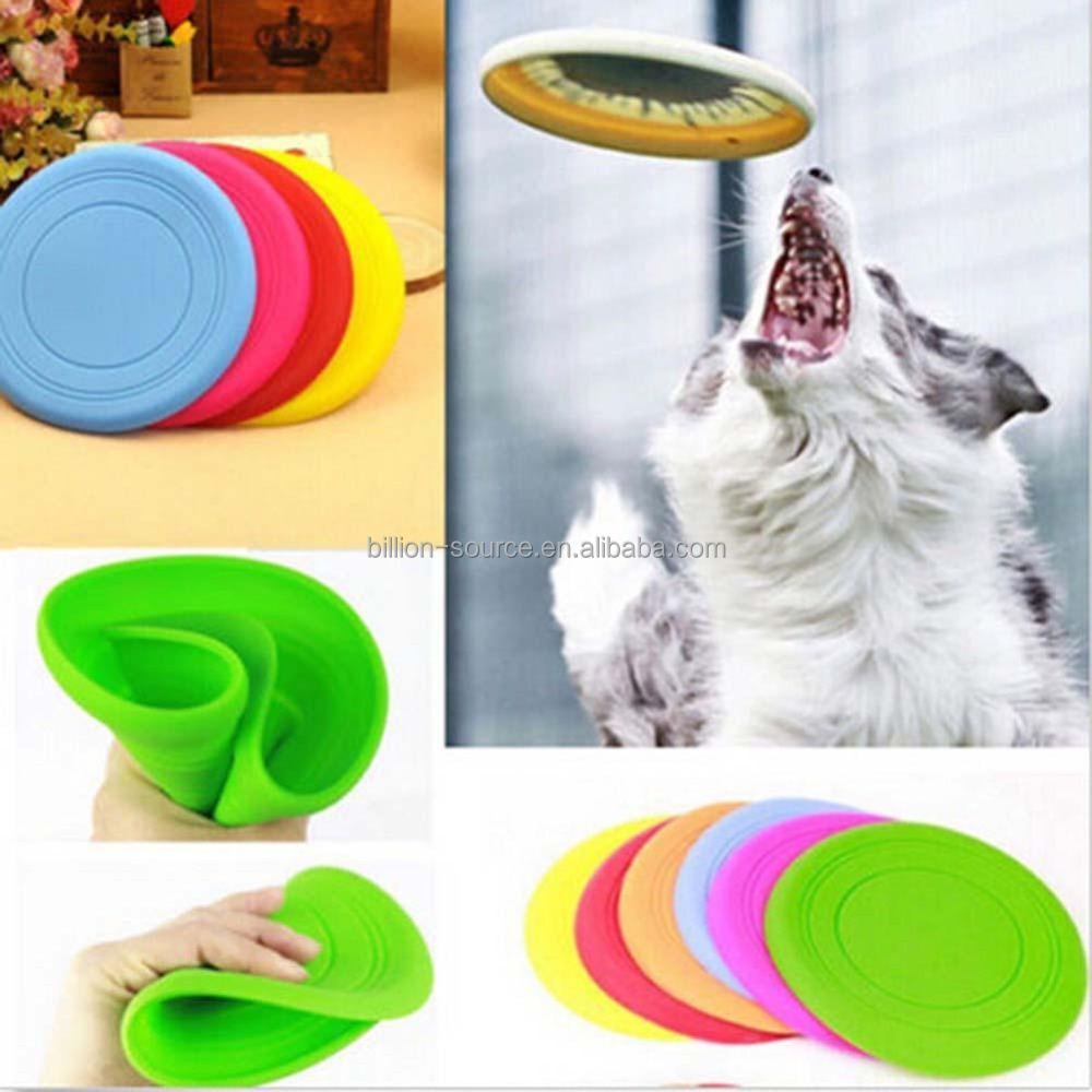 Outdoor training pet silicone material throwing jumping dog toy