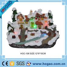 2015 Christmas led lighted village house, hand made ploly resin Christmas ornaments, merry christmas gifts & decorations