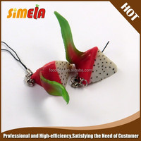 Simela Wholesale Promotional PVC Silicon Fruit Keyring