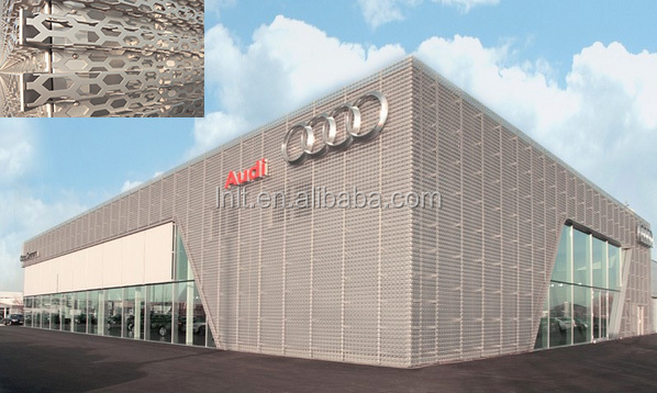 falt punched solid facade wall deocatiive aluminum sheet panel