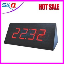 LED wooden lighted table clocks