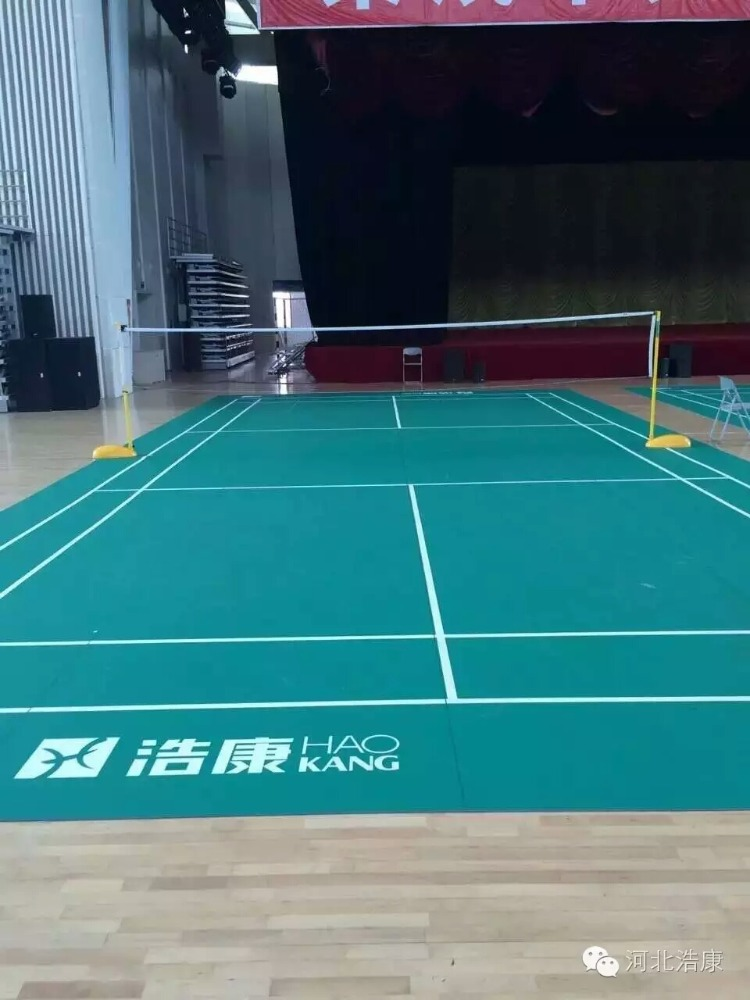 Hot sales BWF indoor badminton sports flooring