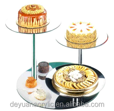 Hot Sale acrylic mirror stand/clear acrylic cake stand