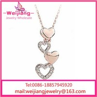 New Model With High Quality Crystal Letter Necklace