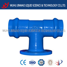 pn10 pn16 pvc double socket tee with flanged branch
