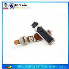 OEM Pen drive 32gb Leather USB Flash Memory Stick for Gift with logo
