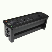 CE approved flip electric tabletop power meter socket