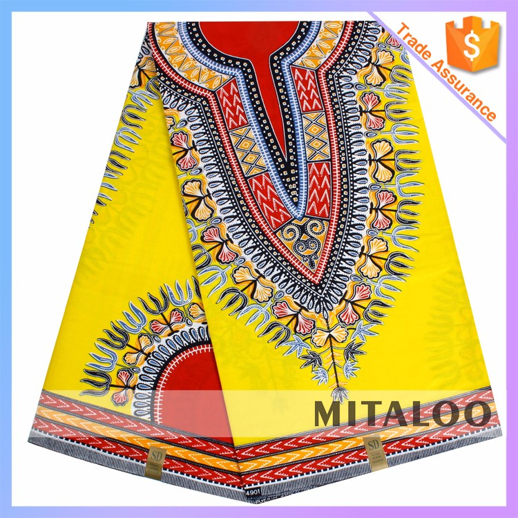 Mitaloo Fashion African 100% Cotton Real Wax Printed Fabric For Clothes MH3036