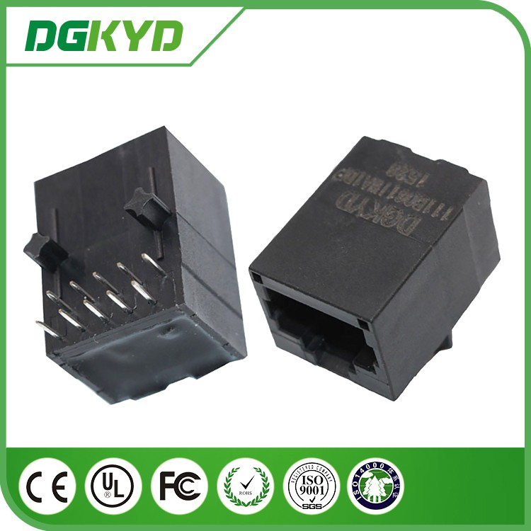 DGKYD111B061IWA1DP unshield 10P8C female jack 100 BASE-TX POE RJ45 network connector
