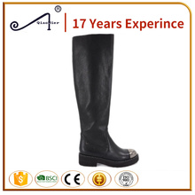 elastic iron toe winter boots for women latex thigh high boots