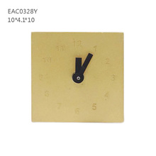 Mini concrete decorative table clock with electric battery designed for decors