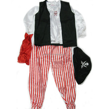 Boy pirate Halloween party costume 6 pieces set