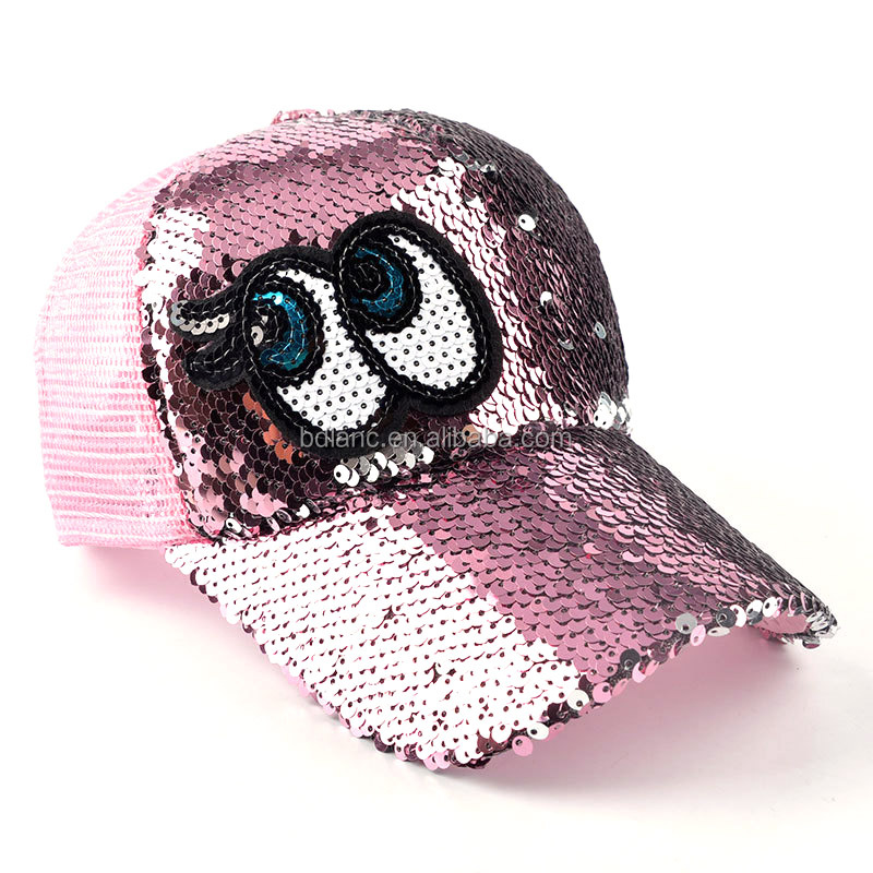 Sequins Flashes Hats For Women Girl's 5 Panel Trucker Cap Drake Sun Breathable Hat Summer Baseball Cap