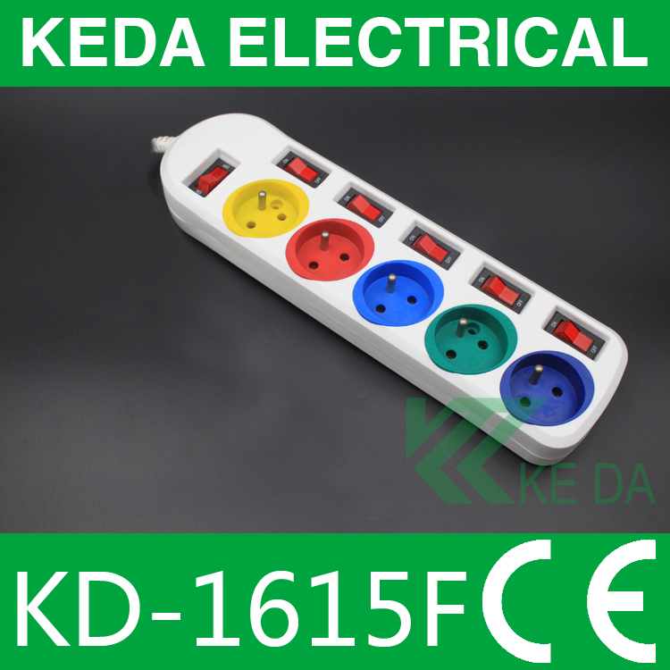 1.5m European Individually Switched Socket,Socket With Single Switch
