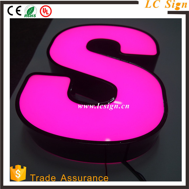 Waterproof illuminated 3d logo shop store sign name stainless steel signage