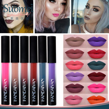 12 fashion color lipstick liquid matte waterproof cosmetic lipstick