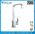 2015 Ningbo WF10023 model brass single lever square kitchen faucet