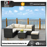 outdoor rattan classic recliner divan sofa cup holder