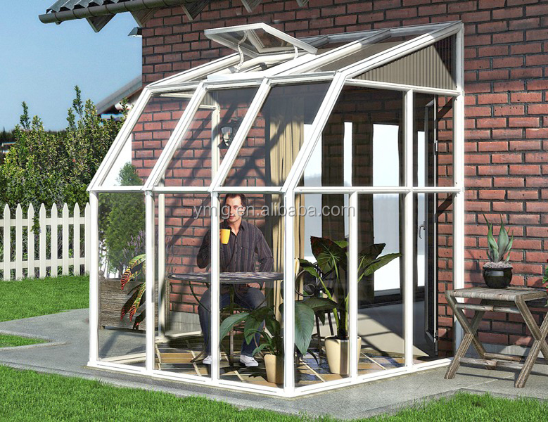 2016 Modern Design Waterproof Aluminum Alloy Small Glass Sunrooms