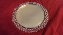 Cheap Wedding Metal Dinner Plate&Gold Crystal Charge Plate for Restaurant Used