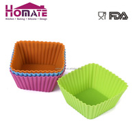 6.8*6.4*3 cm square cake muffin cup liners silicone bakeware Soap mold