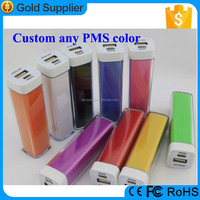 Full Color Logo Lipstick Sized ROHS Power Bank Charger for France Market