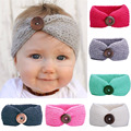 Europe And The United States Autumn And Winter New Baby Crocheted Hand-Knit Baby Headband Childrens Buckle Knit Hair Band