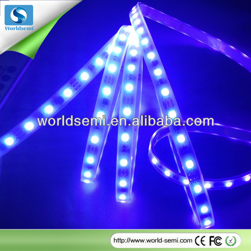 DC12V 48pcs LEDs decorative waterproof full color led strip