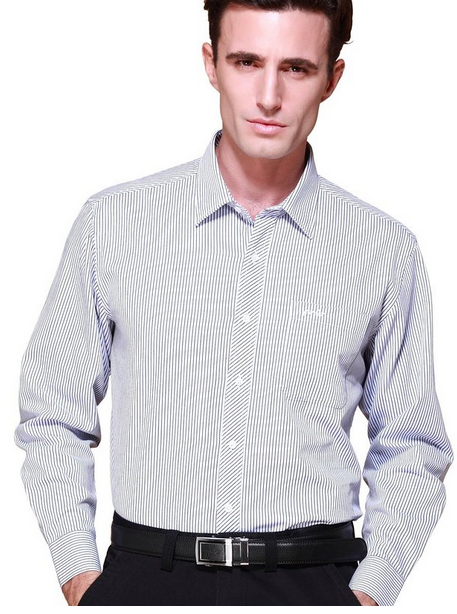 Solid color french cuff dress shirt
