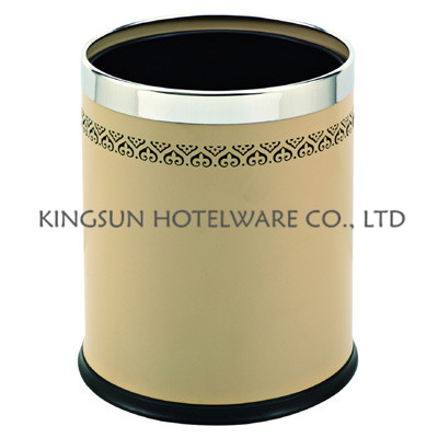 Double Layer Round Hotel Bin Room Dustbin and garbage bin
