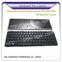 Replacement Laptop Keyboard for HP Dv6-1000 Spanish layout black