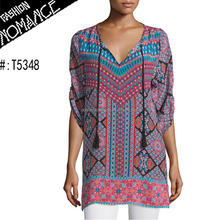 wholesale neck design georgette kurti tunic tops