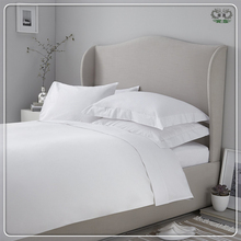 White Cotton Bed Sheet, Pillow Case And Quilt Cover For Hotel Bedding Set