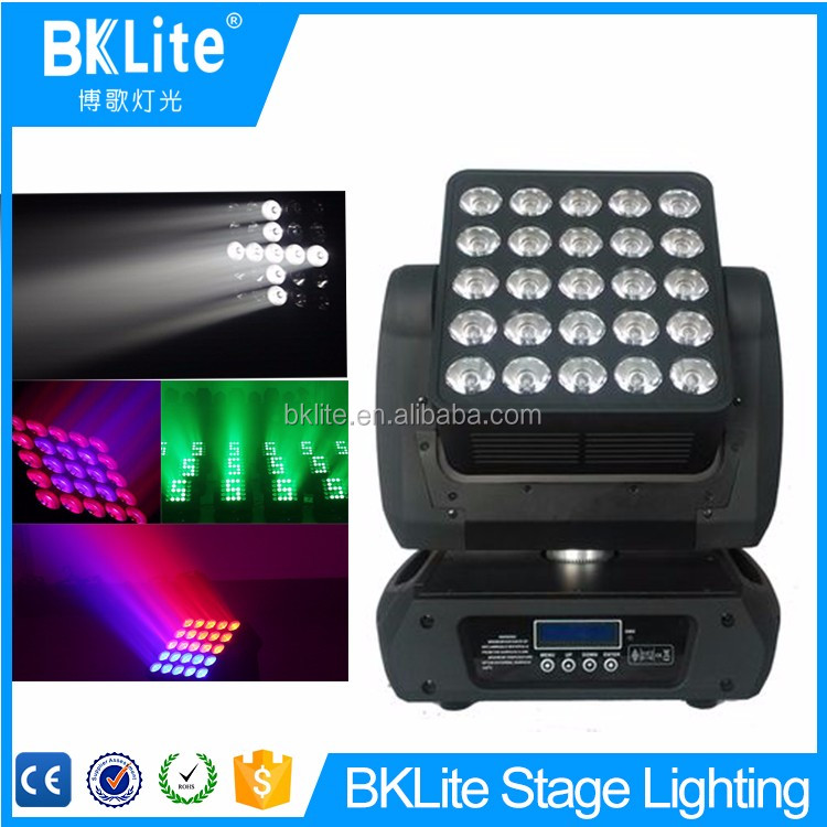 2017 BKLite Professional stage new 25pcs rgbw 4in1 5x5 led matrix moving head light