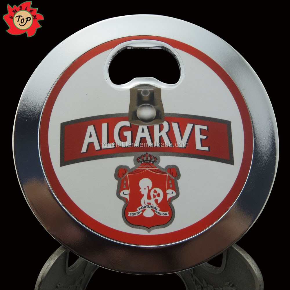 Magnetic fridge magnet bottle opener