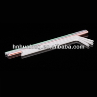 disposable colorful drinking PLA straw with cups and lids