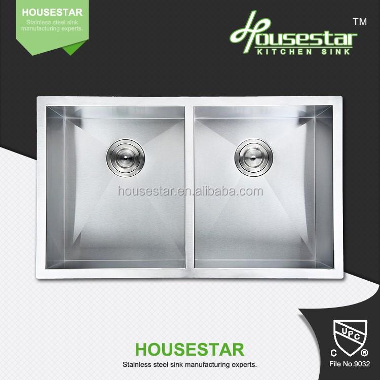 High Quality Hot Sale Kitchen Sink Undormount Double Bowl Hand Wash Basin Portable Sink Unit 8245 7