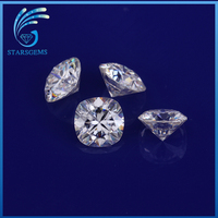Excellent Diamond Cut D/F diamond faceted flat moissanite wholesale fashion jewelry