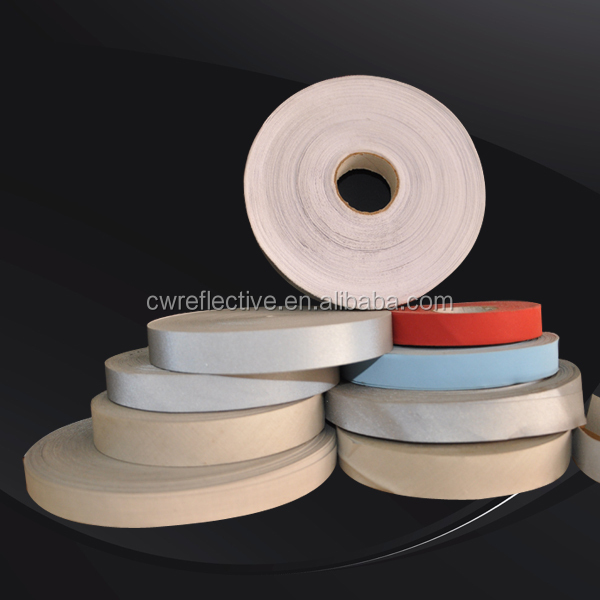 warning sew on 3m tape sew on reflective fabric tape for uniform