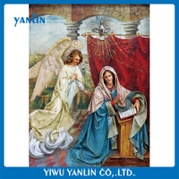 3d lenticular pictures of Virgin Mary and fairy