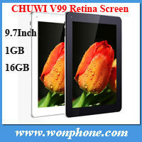 "A31 Quad core IPS Retina Screen 2048x1536px Android 4.1 Original 9.7"" Chuwi V99 Tablet PC 2GB RAM 16GB ROM"