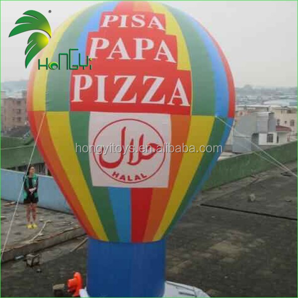 Customized Inflatable Helium Ground Balloon , Inflatable Roof Top Balloon With Logo Printing For Advertising From Hongyi