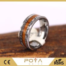 Deer Antler ring With Hawaiian Koa Wood Inlay Set in Tungsten Carbide, 8mm Comfort fit Ring