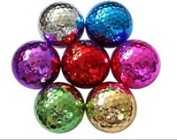 Golf colorful electroplate ball
